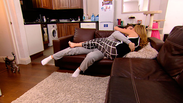TOWIE's Fran Parman and Diags get frisky on the sofa, episode airing 5 November 2014