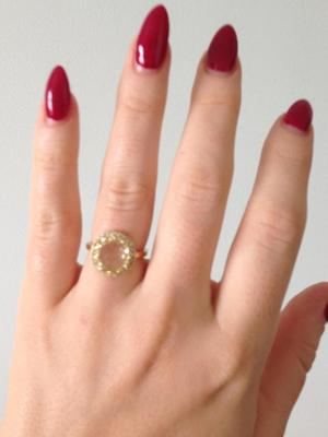 Kimberley Walsh announces engagement with picture of ring, 15 November 2014