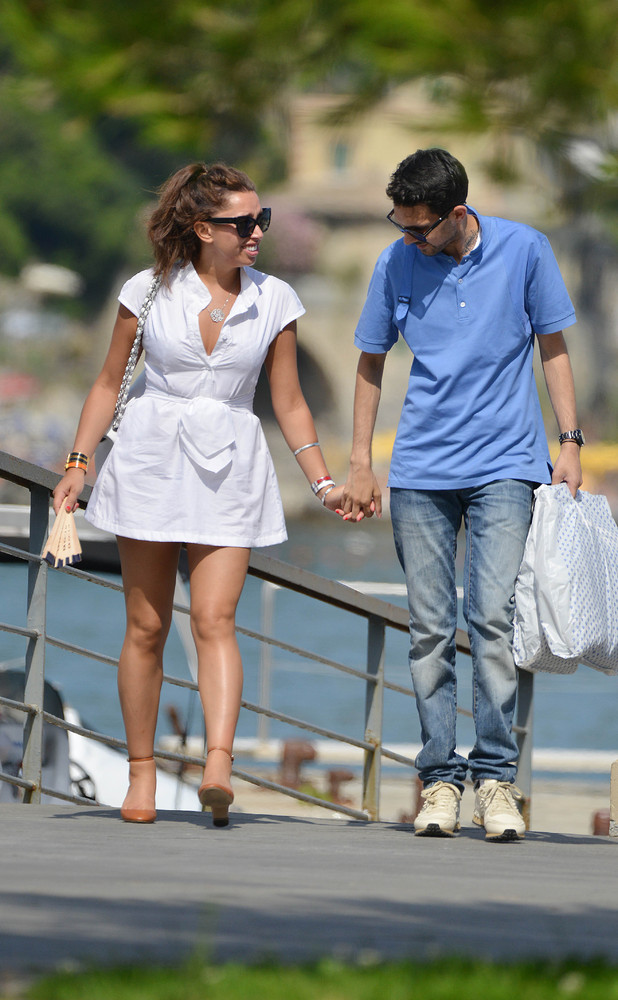 Magician, Dynamo, real name Steven Frayne enjoys a motor boat trip while on holiday in Portofino with his girlfriend 07/03/2014