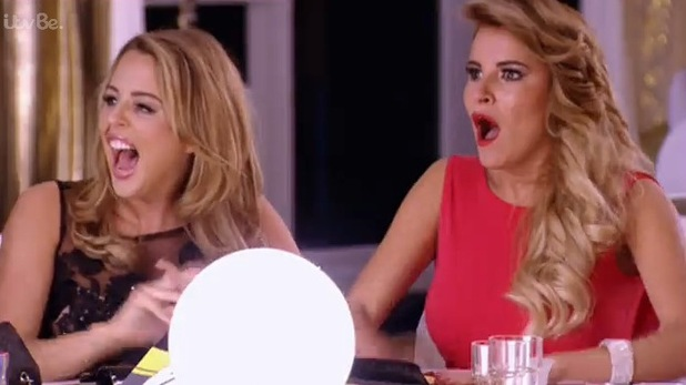 TOWIE strip tease reactions - series finale. Aired: 12 November 2014.