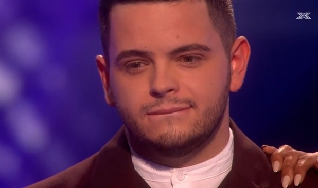 X Factor's Paul Akister and Mel B chat to Dermot  O'Leary after elimination - 10 Nov 2014