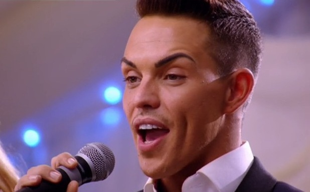 TOWIE's Bobby Norris at charity fundraiser - aired 12 November 2014.
