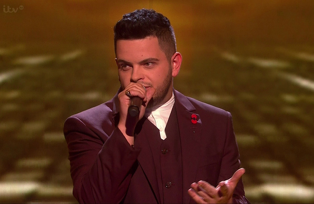Paul Akister sings for survival on 'The X Factor - The Results', Shown on ITV1 HD - 9 November 2014.
