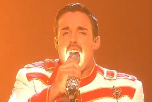Stevi Ritchie performs on The X Factor during Queen versus Michael Jackson night - 10 Nov 2014
