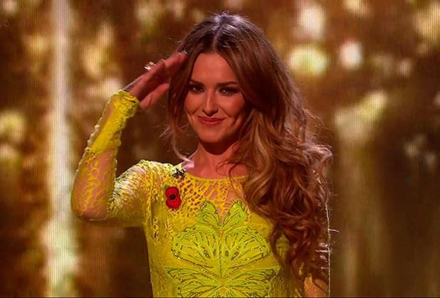 Cheryl Fernandez-Versini appears on X Factor results show, 9 November 2014