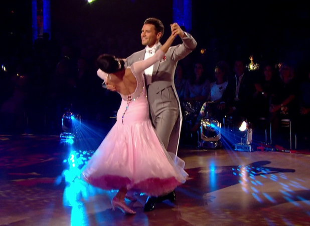 Mark Wright performs the waltz on Strictly Come Dancing, BBC One 8 November