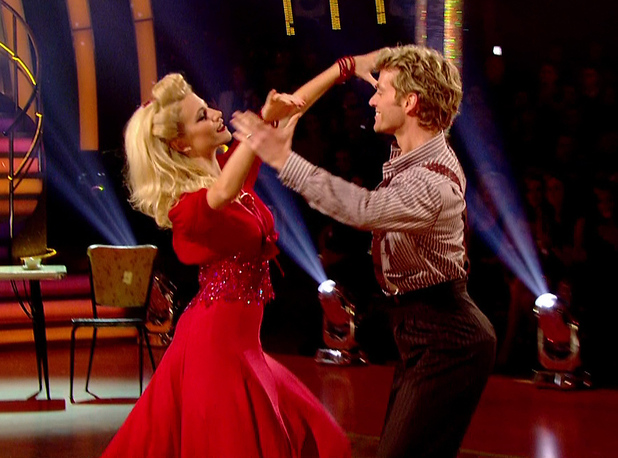 Pixie Lott performs the foxtrot on Strictly Come Dancing, BBC One 8 November