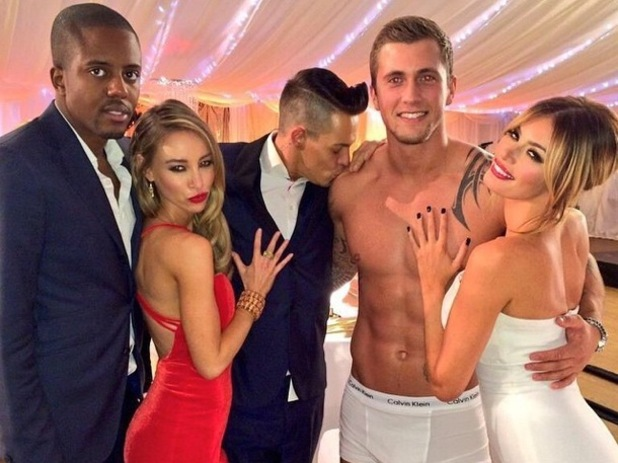 Chloe Sims, Vas J. Morgan, Lauren Pope, Dan Osborne and Bobby Cole Norris attend a charity ball at Quendon Hall for the TOWIE season finale - 9 November 2014