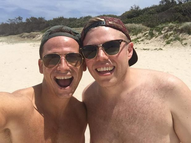 Joe Swash and Rob Beckett arrive in Australia for I'm A Celebrity 2014 - 10 Nov 2014