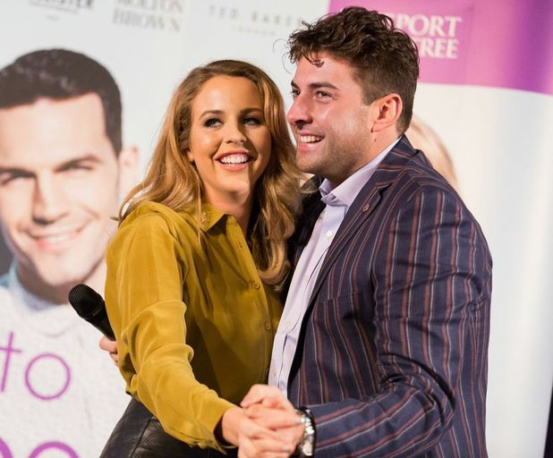 TOWIE's James 'Arg' Argent and Lydia Bright turn on Christmas lights at Freeport Braintree Outlet Shopping Village in Braintree, Essex - 13 November.