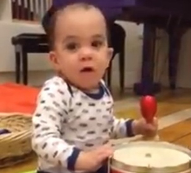 Simon Cowell shares a new video of his baby son Eric playing a drum - 12 Nov 2014