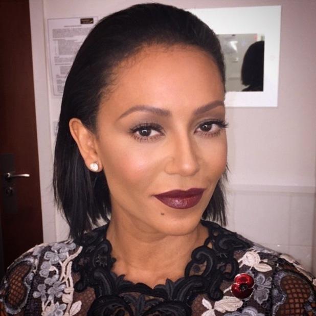 Mel B wears a bargain £4.49 plum lipstick during The X Factor - 8 November 2014