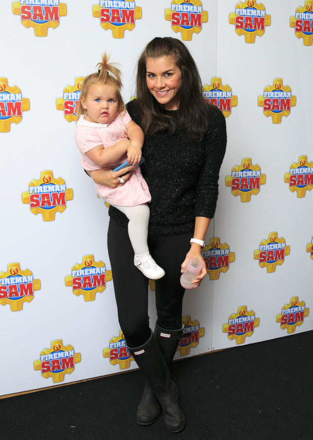 Imogen Thomas and daughter Ariana attend Fireman Sam's bonfire and firework event at Battersea Park - 8 November.