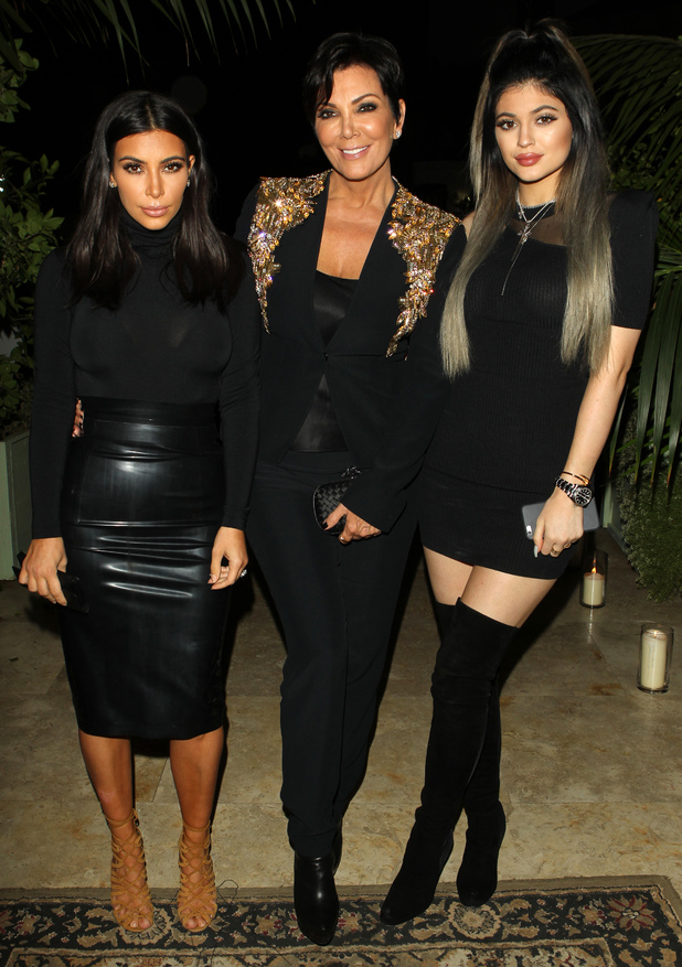 Kylie Jenner, Kim Kardashian West and Kris Jenner attend French Montana's birthday party in California - 9 November 2014