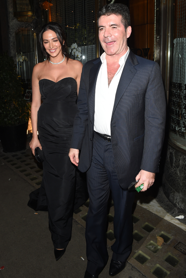 Lauren Silverman and Simon Cowell, Mr Chow, London 13 November