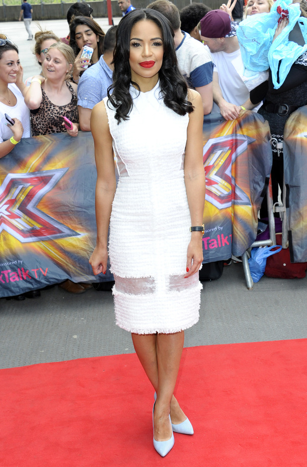 Sarah-Jane Crawford at the X Factor auditions in London, England - 20 June 2014
