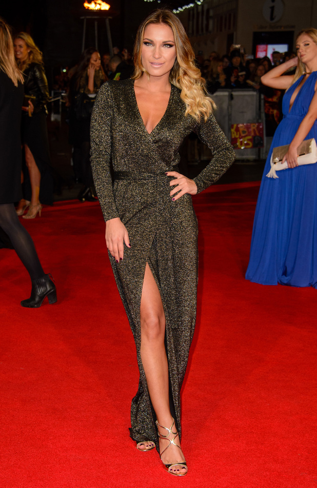 Sam Faiers attends the The Hunger Games: Mockingjay Part 1 premiere in London, England - 10 November 2014
