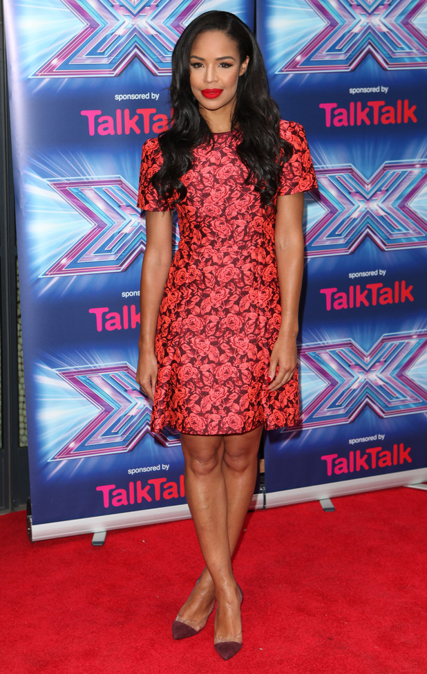 Sarah-Jane Crawford attends the X Factor press launch in London, England - 27 August 2014