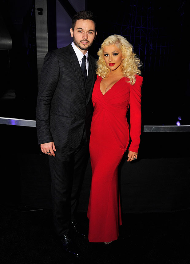 Christina Aguilera (R) and Matt Rutler attend the Breakthrough Prize Awards Ceremony Hosted By Seth MacFarlane at NASA Ames Research Center on November 9, 2014 in Mountain View, California. (Photo by Steve Jennings/Getty Images for Breakthrough Prize)