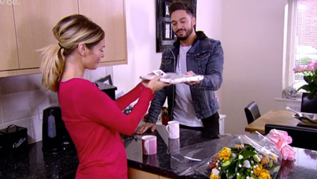 TOWIE: Chloe Sims is gifted with flowers and a picture frame for her birthday from Mario Falcone, aired 9 November 2014