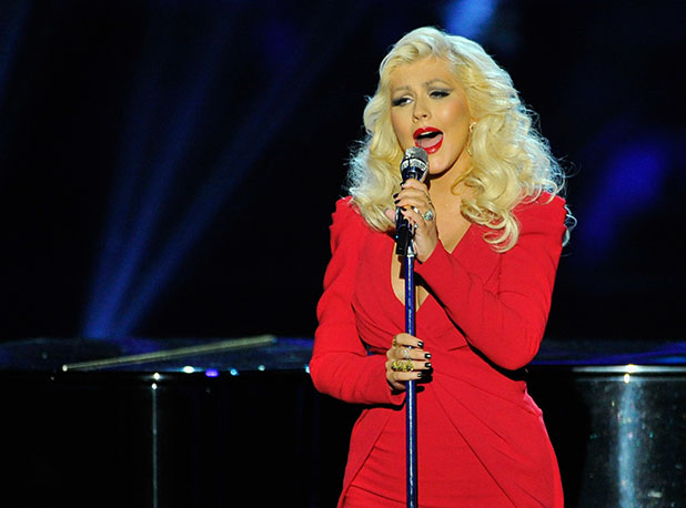 Christina Aguilera performs at Breakthrough Prize Awards Ceremony Hosted By Seth MacFarlane at NASA Ames Research Center on November 9, 2014 in Mountain View, California. (Photo by Steve Jennings/Getty Images for Breakthrough Prize)