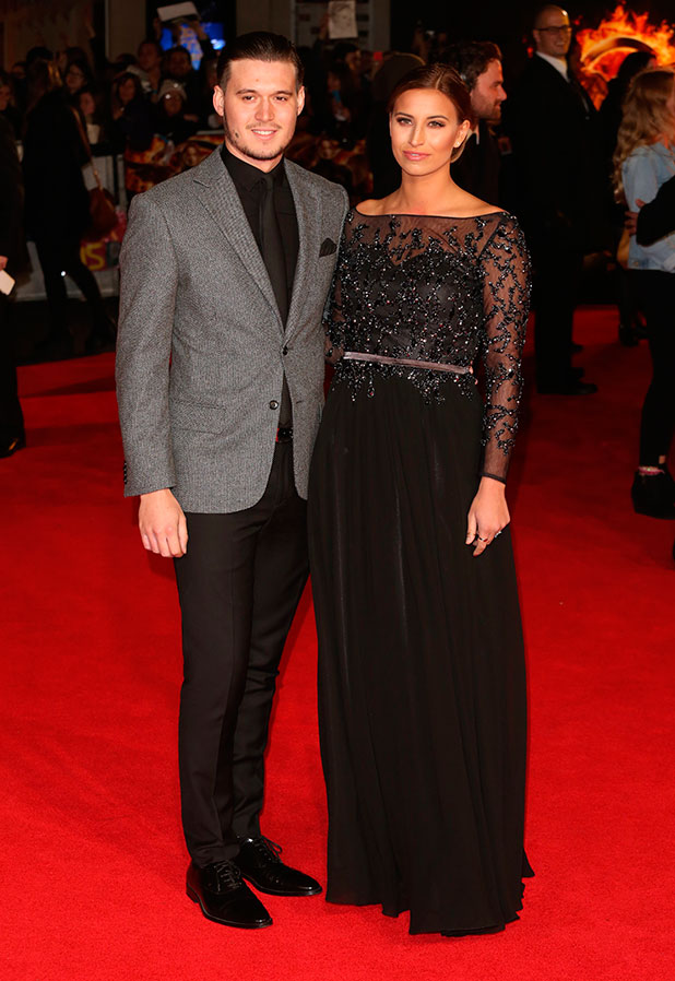 TOWIE's Ferne McCann and Charlie Sims at The Hunger Games: Mockingjay Part 1 premiere in London, 10 November 2014
