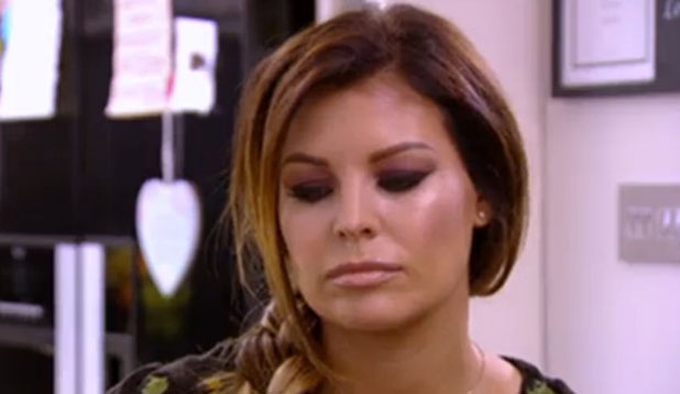 TOWIE: Jessica Wright listens as Carol Wright reads a letter from Ricky Rayment, episode aired 9 November 2014