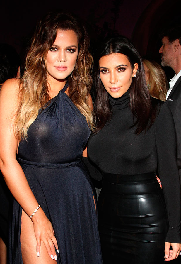 Kim and Khloe Kardashian, Ciroc Pineapple hosts French Montana's Birthday party celebration, 9 November 2014