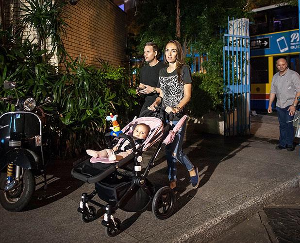 Tamara Ecclestone, Jay Rutland and baby Sophia go sightseeing on November 12, 2014 in Hong Kong (Photo by Anthony Kwan/Getty Images)