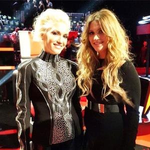Ella Henderson meets Gwen Stefani on The Voice US - 18 November 2014.