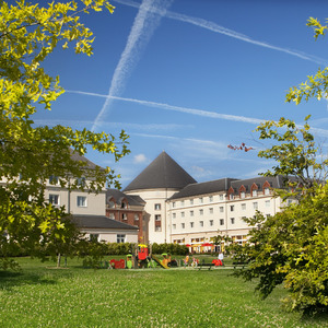Magic Circus Hotel courtyard - Marne-la-Vallée in France - October 2014.