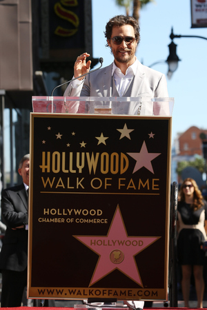 Matthew McConaughey attends the ceremony honouring him with a Star on The Hollywood Walk of Fame on November 17, 2014 in Hollywood, California.