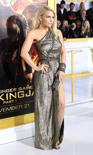 Jessica Simpson at the Hunger Games: Mockingjay - Part 1' Los Angeles premiere at Nokia Theatre - Arrivals - 17 November 2014.