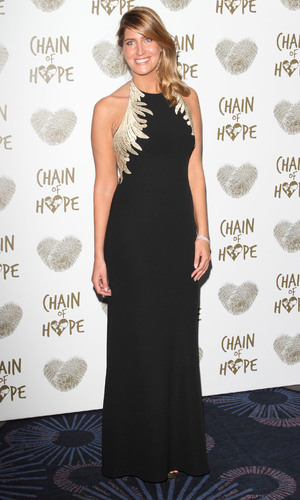 Cheska Hull attends the Chain of Hope's 2014 Gala Ball at the Grosvenor House hotel, 21/11/2014