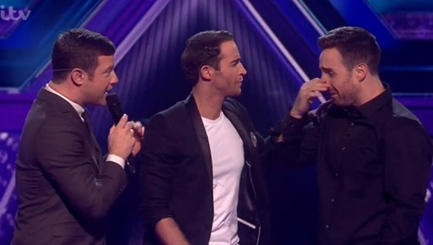 X Factor results show - Jay James Picton and Stevi Ritchie- 16 November 2014.