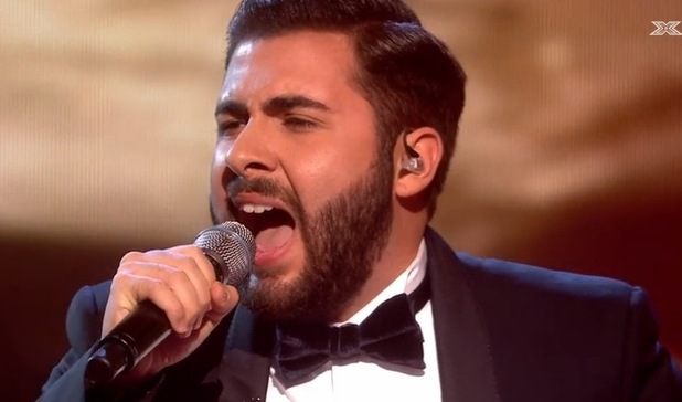 Andrea Faustini on The X Factor - Big Band week - 16 November 2014.