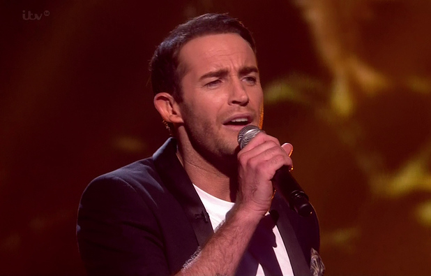 X Factor results show - Jay James Picton - 16 November 2014.