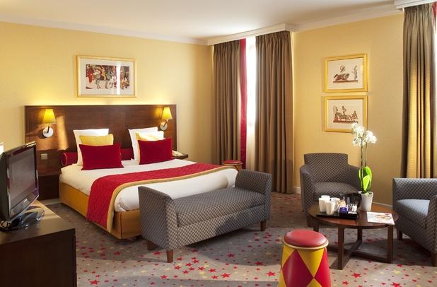 Magic Circus Hotel executive bedroom - Marne-la-Vallée in France - October 2014.