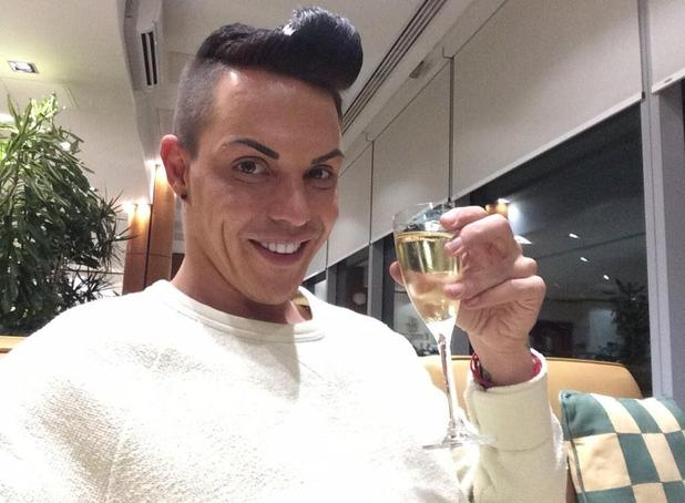 Bobby Norris flies to Australia to support Gemma Collins on I'm A Celebrity - 18 Nov 2014