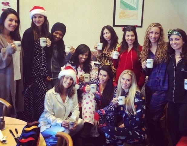 Kourtney Kardashian enjoys a second baby shower in her pyjamas at iHOP in LA, 17 Nov 2014