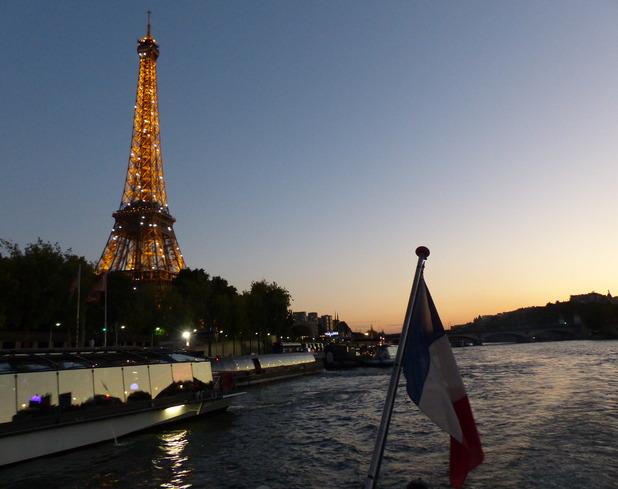 Dinner cruise on the Seine river with La Marina de Paris - October 2014.