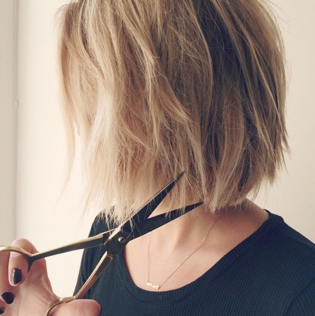 Lauren Conrad shows off her new super-short bob haircut in an Instagram picture - 14 November 2014