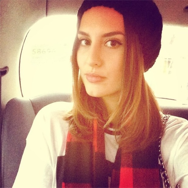 Lucy Watson poses for an Instagram selfie - 21 November 2014