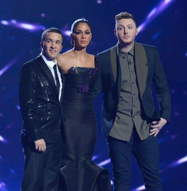 'The X Factor Final Live' TV Programme, Manchester Central Convention Centre, Manchester, Britain - 09 Dec 2012 Judges Nicole Scherzinger with Jahmene Douglas and James Arthur