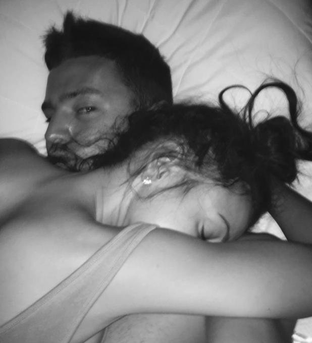 Mark Wright shares intimate photo of himself with fiancée Michelle Keegan, 22 November 2014