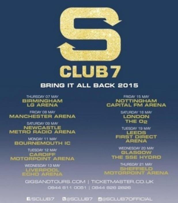 S Club 7 announce reunion tour 17 November