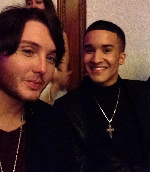 James Arthur reunites with Jahméne Douglas at Bravest Woman Awards - 17 November 2014.