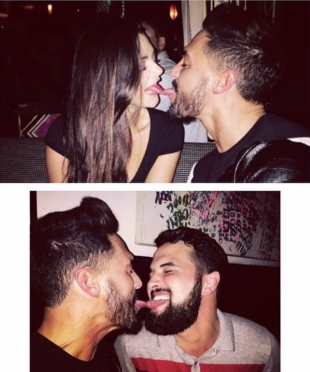 TOWIE's Mario Falcone and Ricky Rayment in Miami - 20 November 2014.