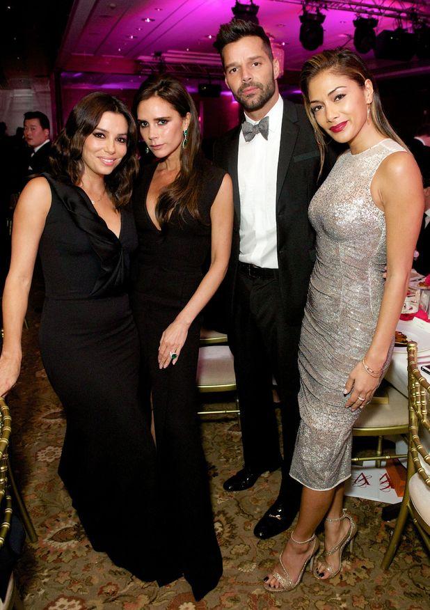 5th Annual Global Gift Gala, London, Britain - 17 Nov 2014 - Eva Longoria, Victoria Beckham, Ricky Martin and Nicole Scherzinger.