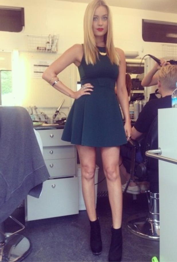 Laura Whitmore in I'm A Celeb dressing room, 19/11/14